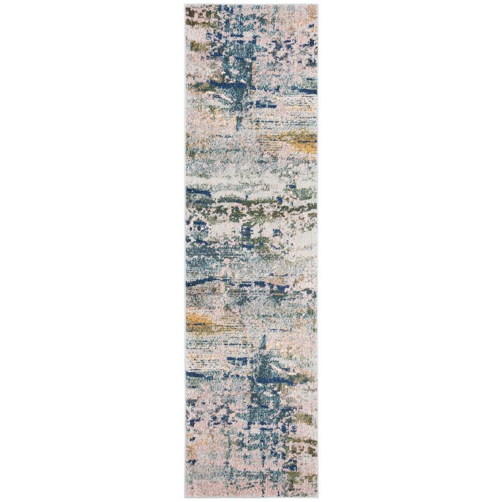 Safavieh Monaco Blue/Gray 2 ft. 2 in. x 8 ft. Runner Rug