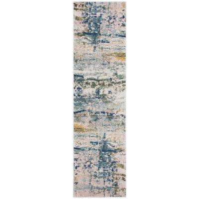 Monaco Blue/Gray 2 ft. 2 in. x 8 ft. Runner Rug