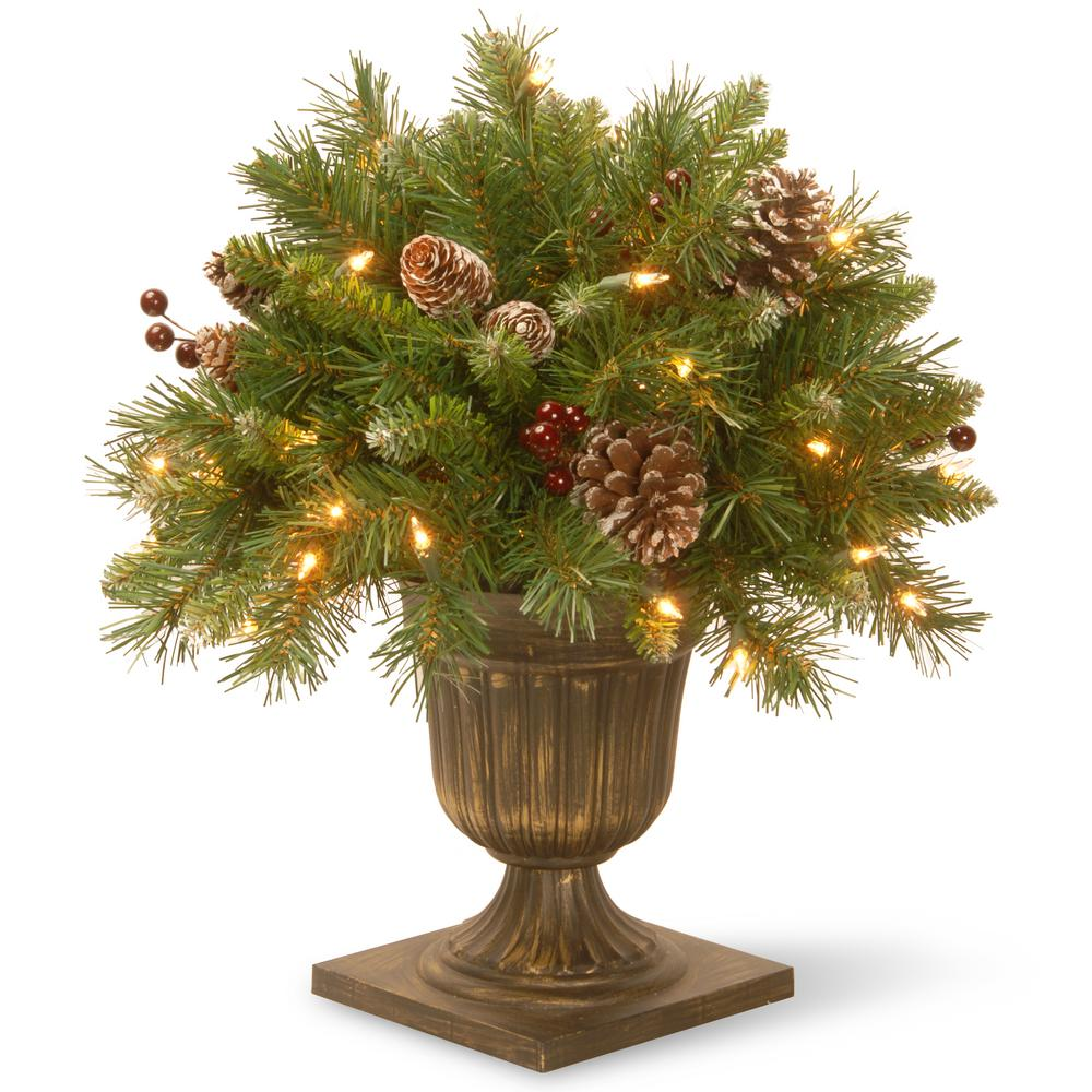 Berry Christmas Tree Lights: National Tree Company 1.5 Ft. Frosted Berry Porch