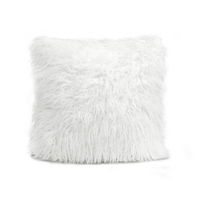 Luca White Single 18 in. x 18 in. Decorative Pillow