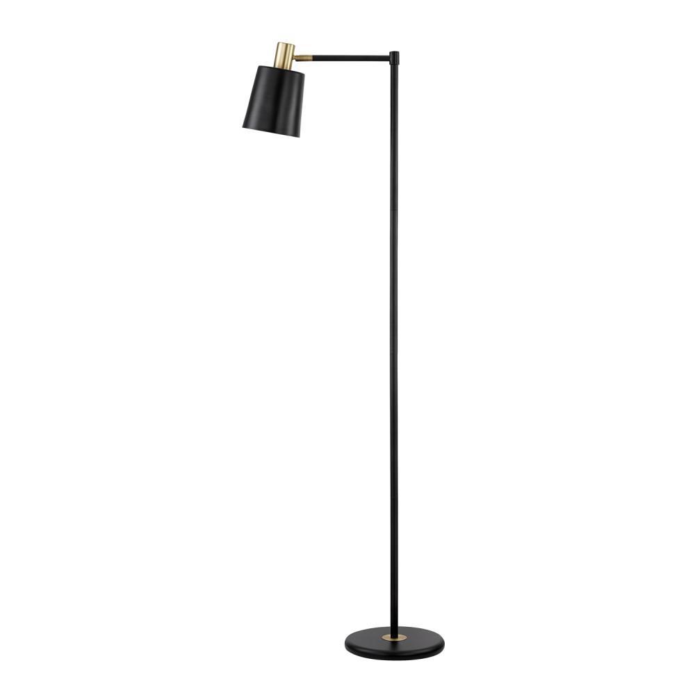 Lex 60 in. Black Floor Lamp