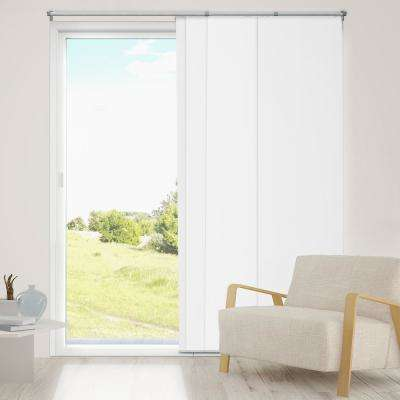 Adjustable Sliding Panel / Cut to Length, Curtain Drape Vertical Blind, Thermal, Room Darkening - Mountain Snow