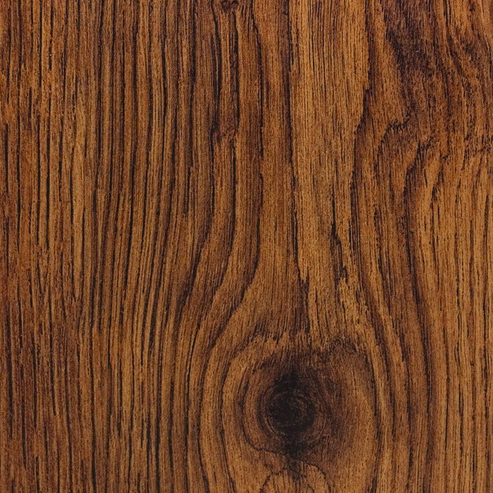 Hampton Bay Hand Scraped Oak Burnt Caramel 8 mm Thick x 5-1/2 in. Wide x 47-7/8 in. Length Laminate Flooring (14.63 sq. ft. / case)