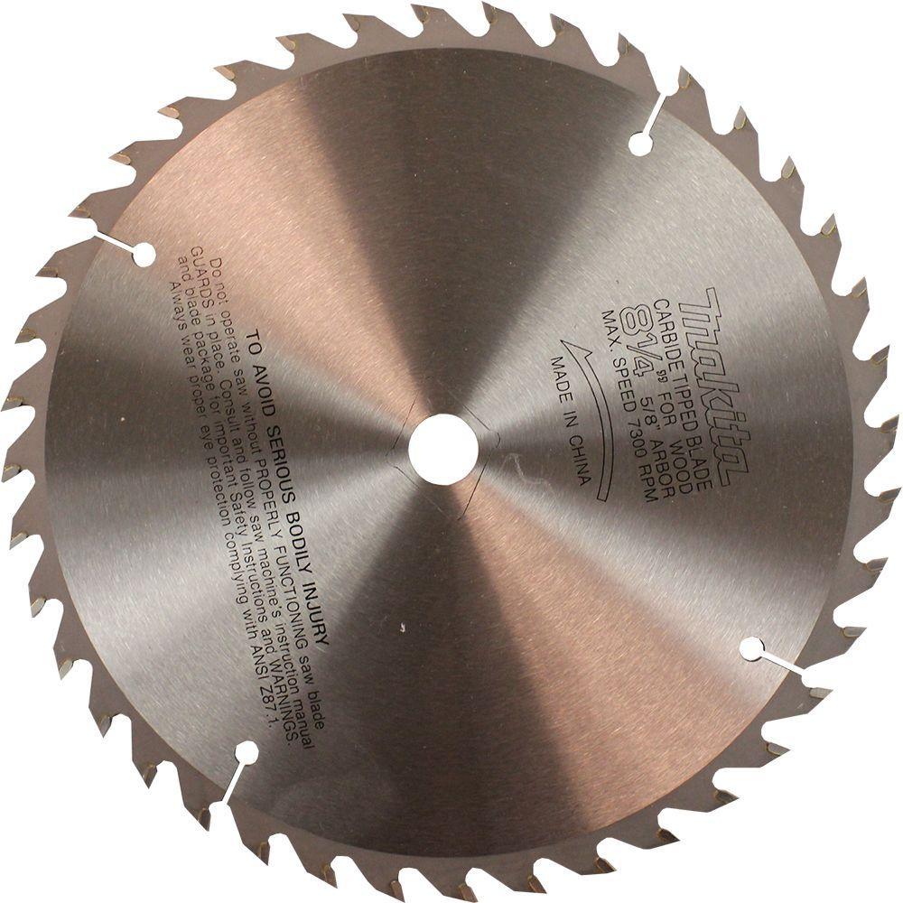 Makita 8-1/4 inch 40-Teeth Fine Crosscutting Carbide-Tipped Circular Saw Blade by Makita