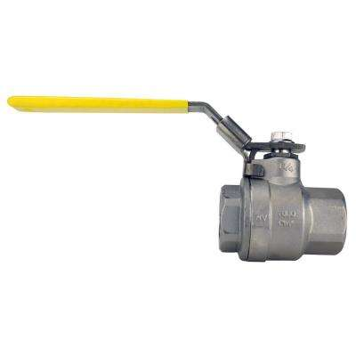 1-1/4 in. Stainless Steel FNPT x FNPT Full-Port Ball Valve withLatch Lock Lever