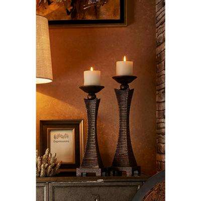 15.75 in. and 17.5 in. Kayan Candle Holder Set