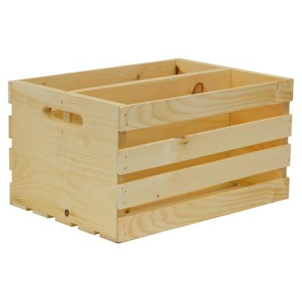 18 in. x 12.5 in. x 9.63 in. Divided Crate