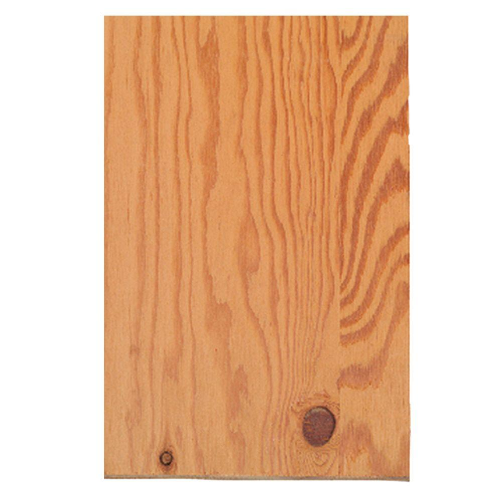 Sheathing Plywood Structural 1 Common 15 32 In 4 Ft X 10 Ft Actual 0 438 In X 48 In X 120 In 948066 The Home Depot