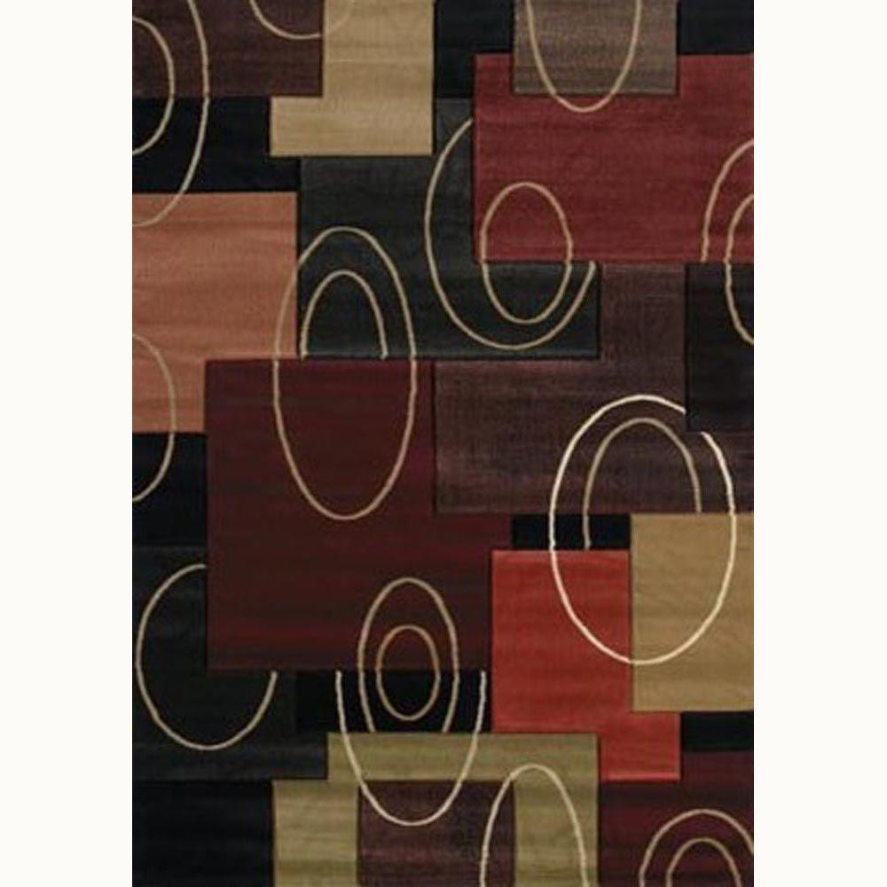 United Weavers Cha Cha Onyx 5 ft. 3 in. x 7 ft. 6 in. Contemporary Area Rug