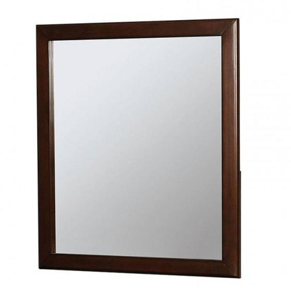 Medium Rectangle Brown Cherry Classic Mirror (36 in. H x 1 in. W)