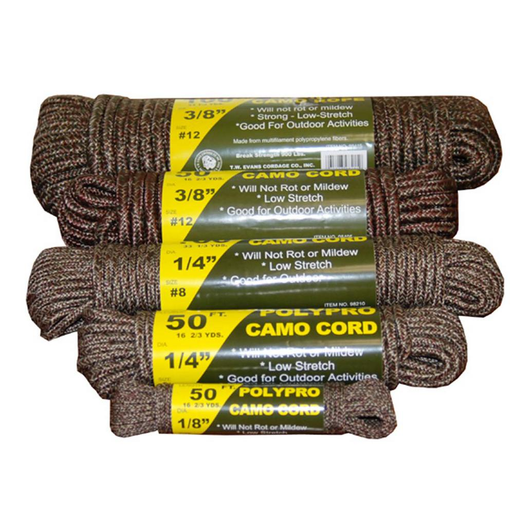 3/8 in. x 100 ft. Braided Camo Rope