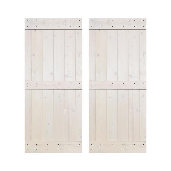 Akicon Dmb Series 84 In X 84 In 12 Panel Wh Painted Wood Sliding Door Without Installation Hardware Kit Jm Dmb Wh 84 The Home Depot