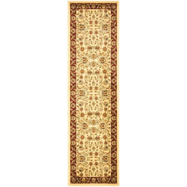 Lyndhurst Ivory/Red 2 ft. x 16 ft. Runner Rug