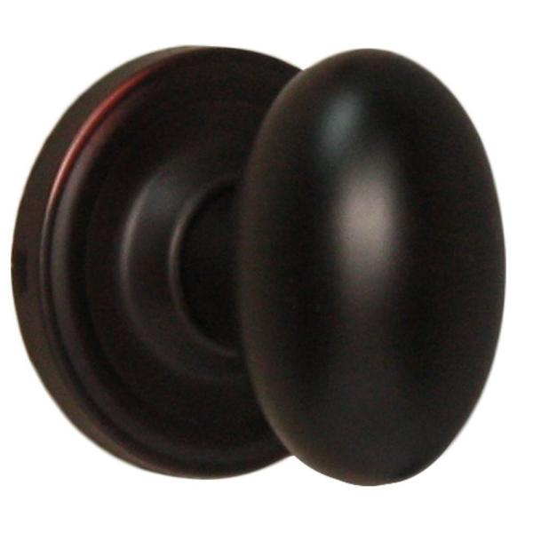 Traditionale Oil-Rubbed Bronze Privacy Bed/Bath Julienne Door Knob