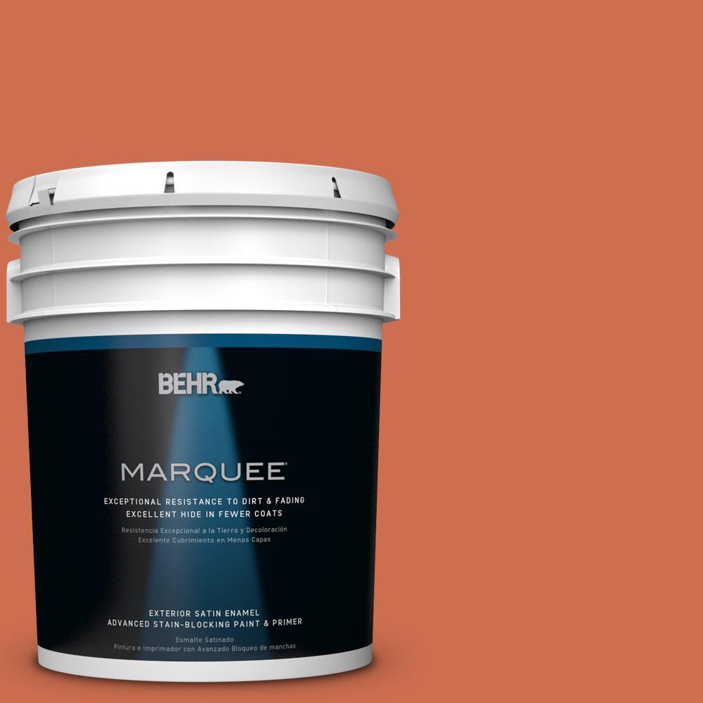 BEHR MARQUEE 5-gal. #M180-6 Tiki Torch Satin Enamel Exterior Paint