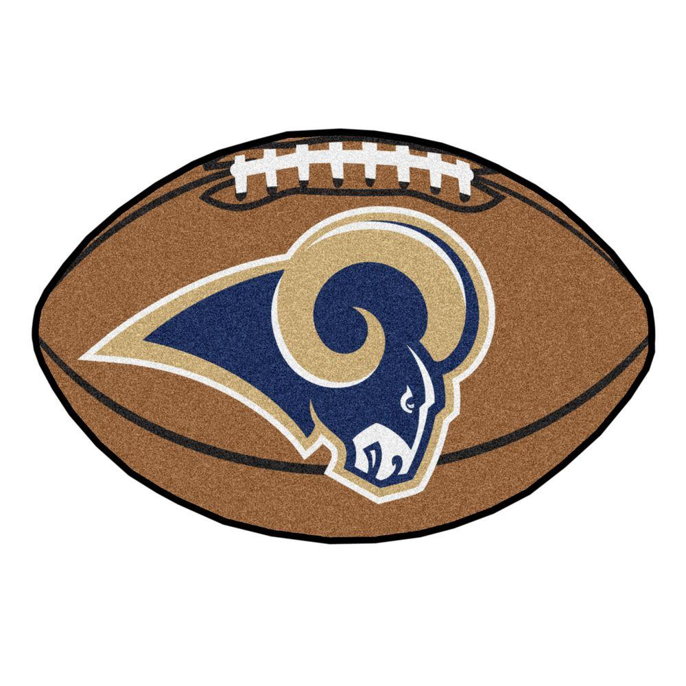 FANMATS NFL Los Angeles Rams Brown 2 ft. x 3 ft. Specialty ...
