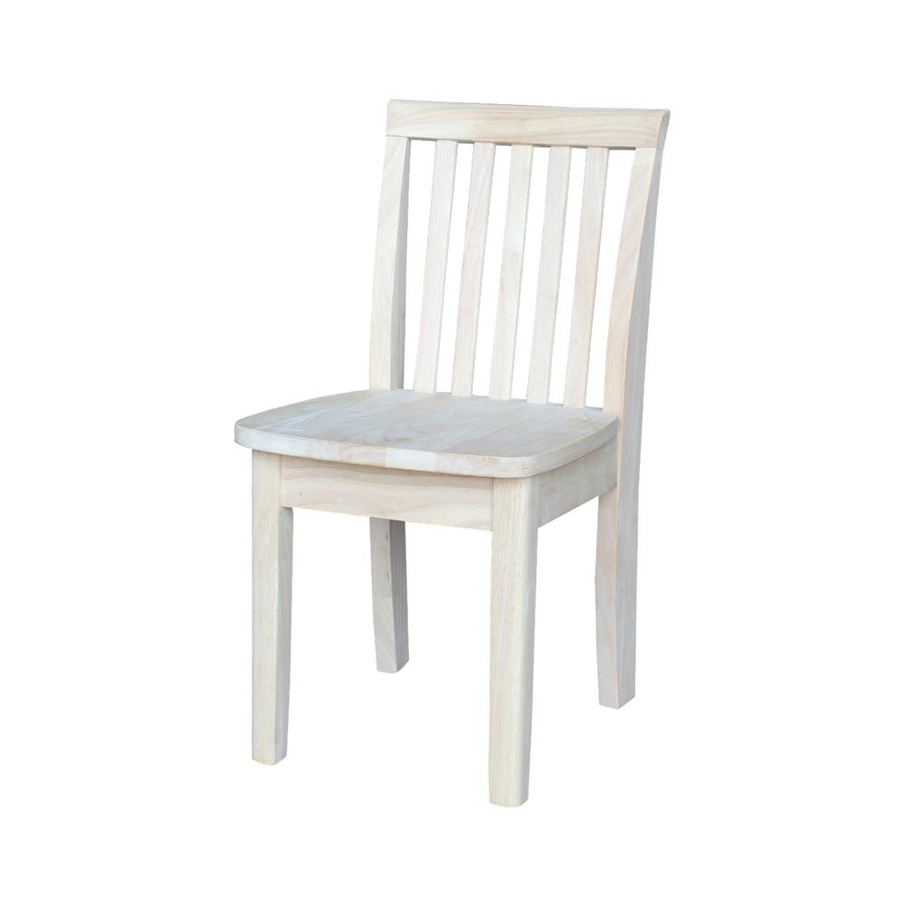 Charmant Unfinished Wood Kids Chair (Set Of 2)