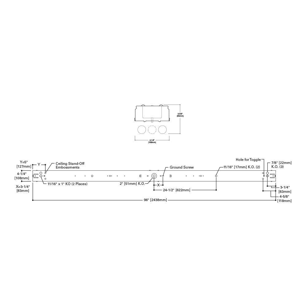 metalux 32watt 4light white 8 ft tandem fluorescent strip