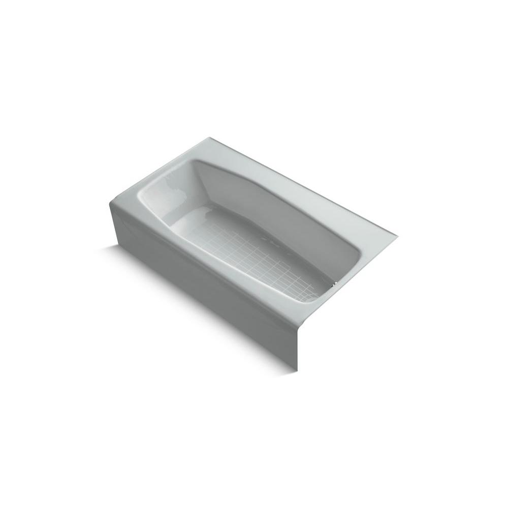 KOHLER Villager 5 ft. Right Drain Soaking Tub in Ice Grey