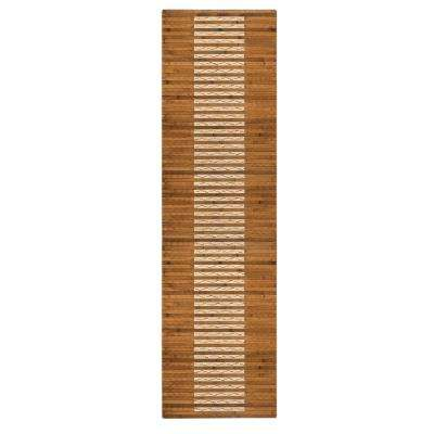20 in. x 72in. Bamboo Walnut Kitchen and Bath Mat