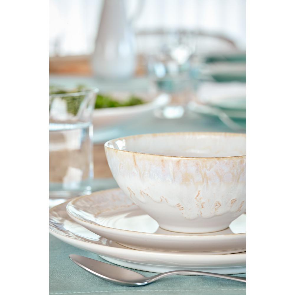Taormina 22 fl. oz. White Ceramic Stoneware Cereal Bowl (Set of 6)