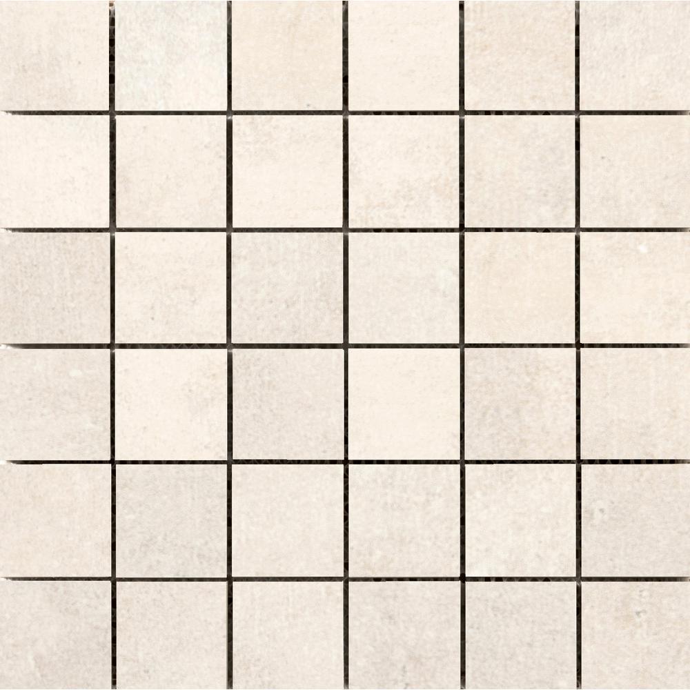 Chiado Carson 12.99 in. x 12.99 in. x 9mm Porcelain Mesh-Mounted Mosaic Tile
