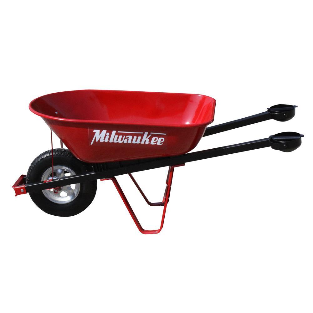 Milwaukee 6 Cu Ft Heavy Duty Pivot Handle Wheelbarrow 6wbmilhd
