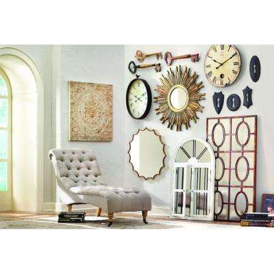 Harrison 42 in. H x 25 in. W Window Mirror in Distressed Cream