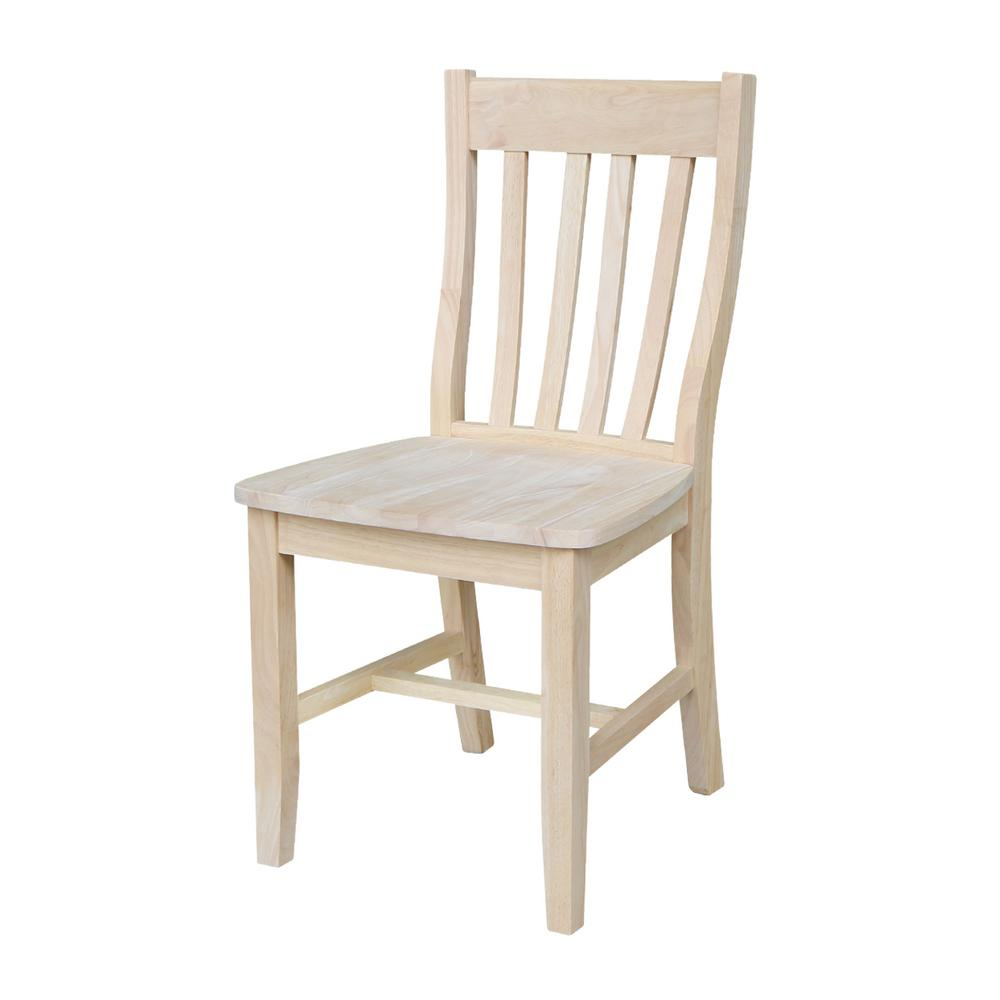 wooden dining furniture. Unfinished Wood Dining Chair (Set Of 2) Wooden Furniture