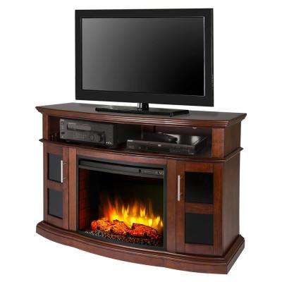 Rochester 52 in. Freestanding Electric Fireplace TV Stand in Cherry