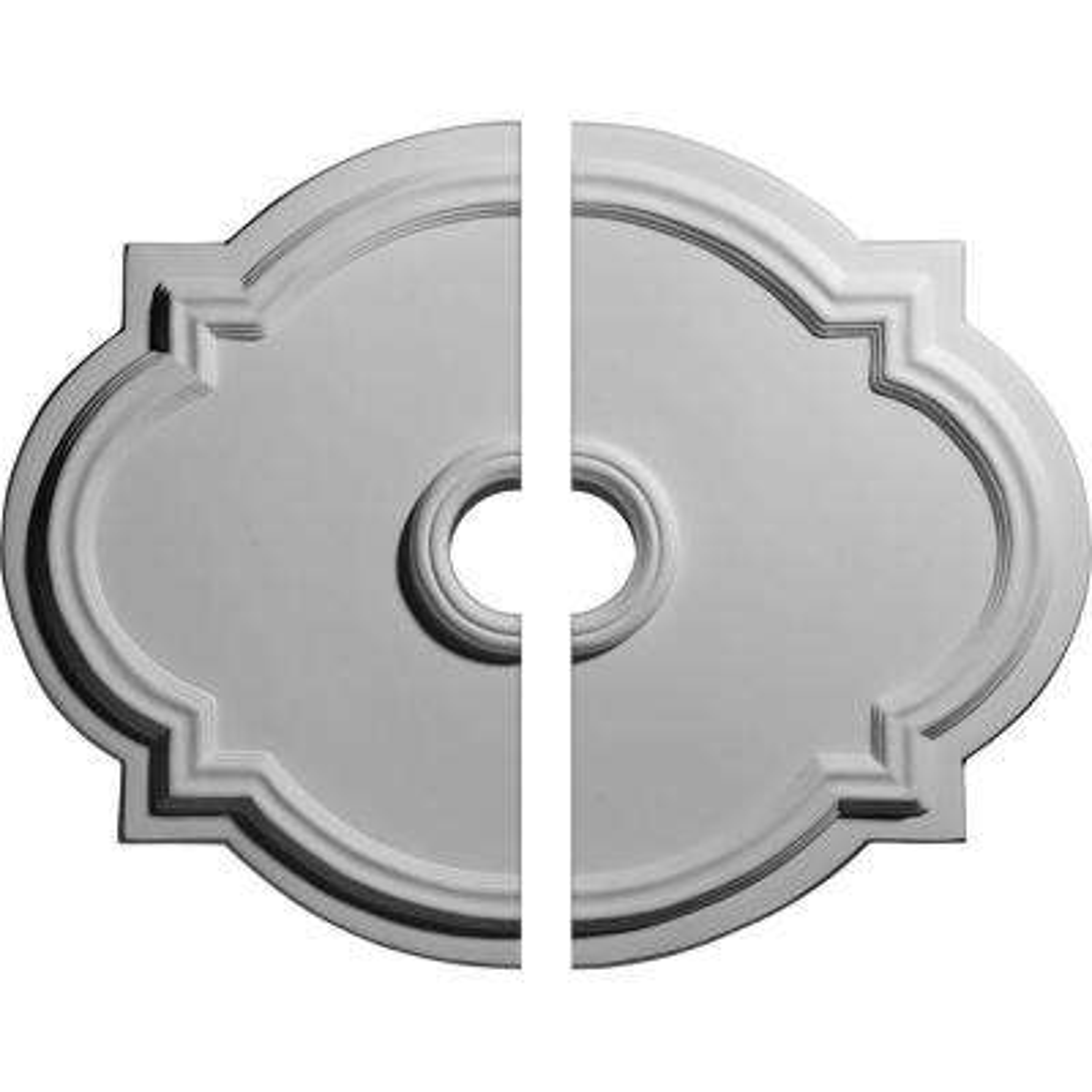 21-1/4 in. W x 17-3/8 in. H x 1 in. P Waltz Ceiling Medallion (2-Piece)