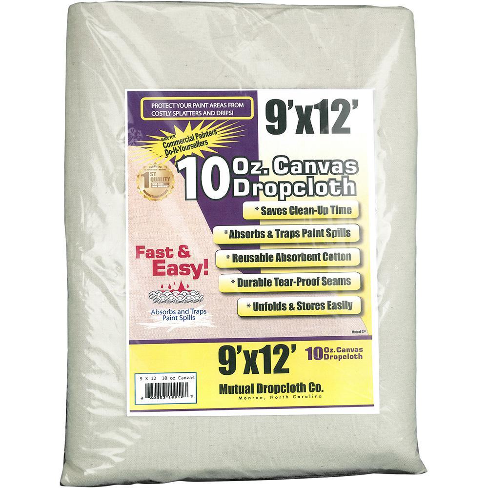 9 ft. x 12 ft. 10 oz. Natural Canvas Drop Cloth