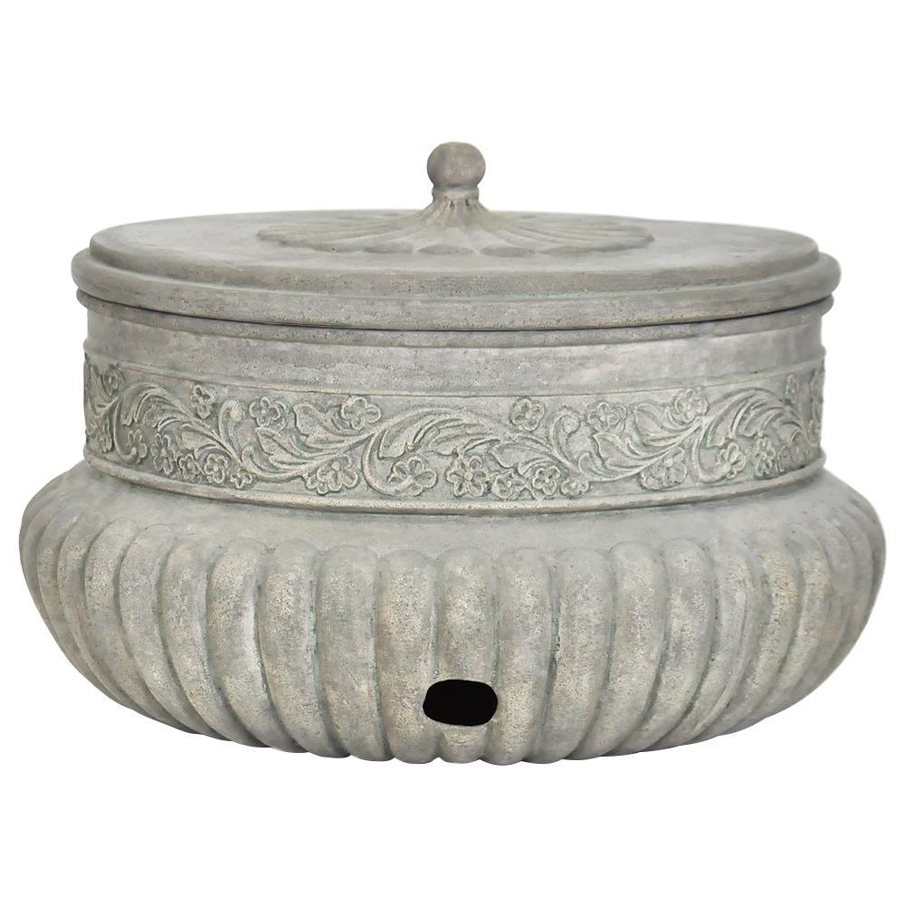 21.75 in. Dia Special Aged Granite Hose Pot