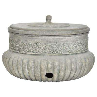 21.75 in. Dia Special Aged Granite Hose Pot