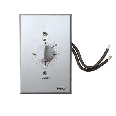 20-Amp 15-Minute In-Wall Spring Wound Countdown Timer Switch, Gray