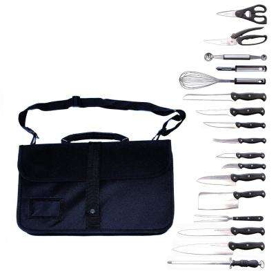 Professional 18-Piece Knife Set with Wrap