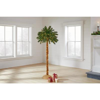 5 ft LED Artificial Palm Tree with 150 Warm White Lights