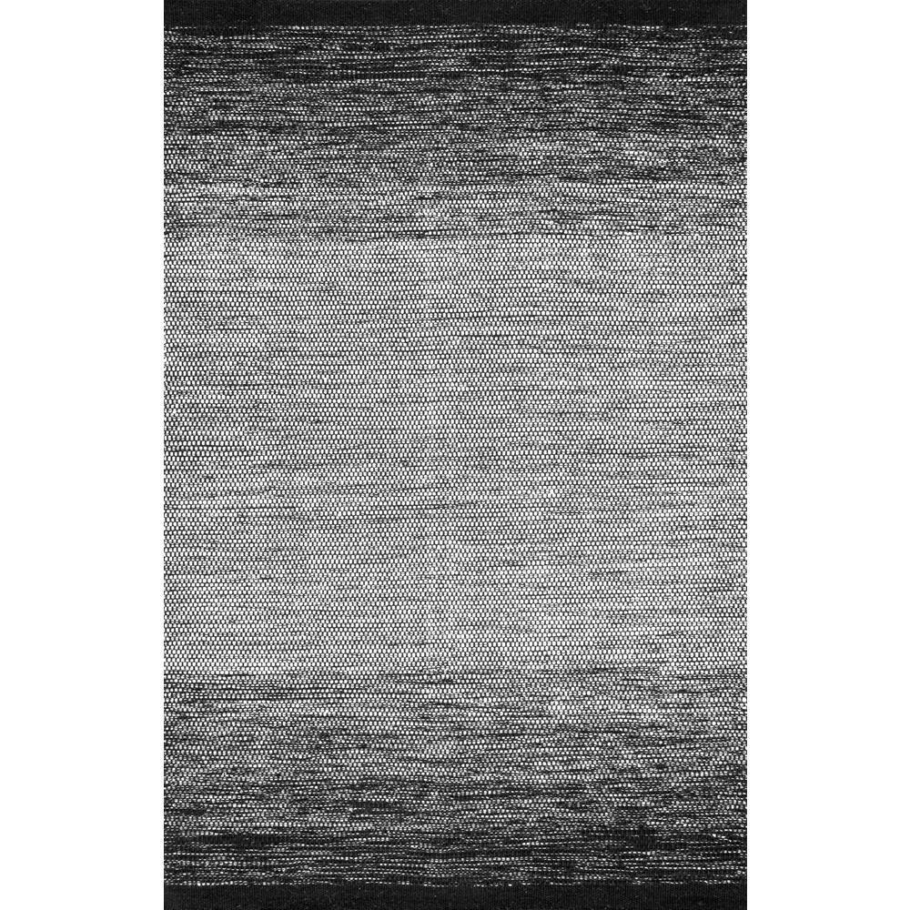 Desantis Ombre Black & White 6 ft. x 9 ft.  Area Rug
