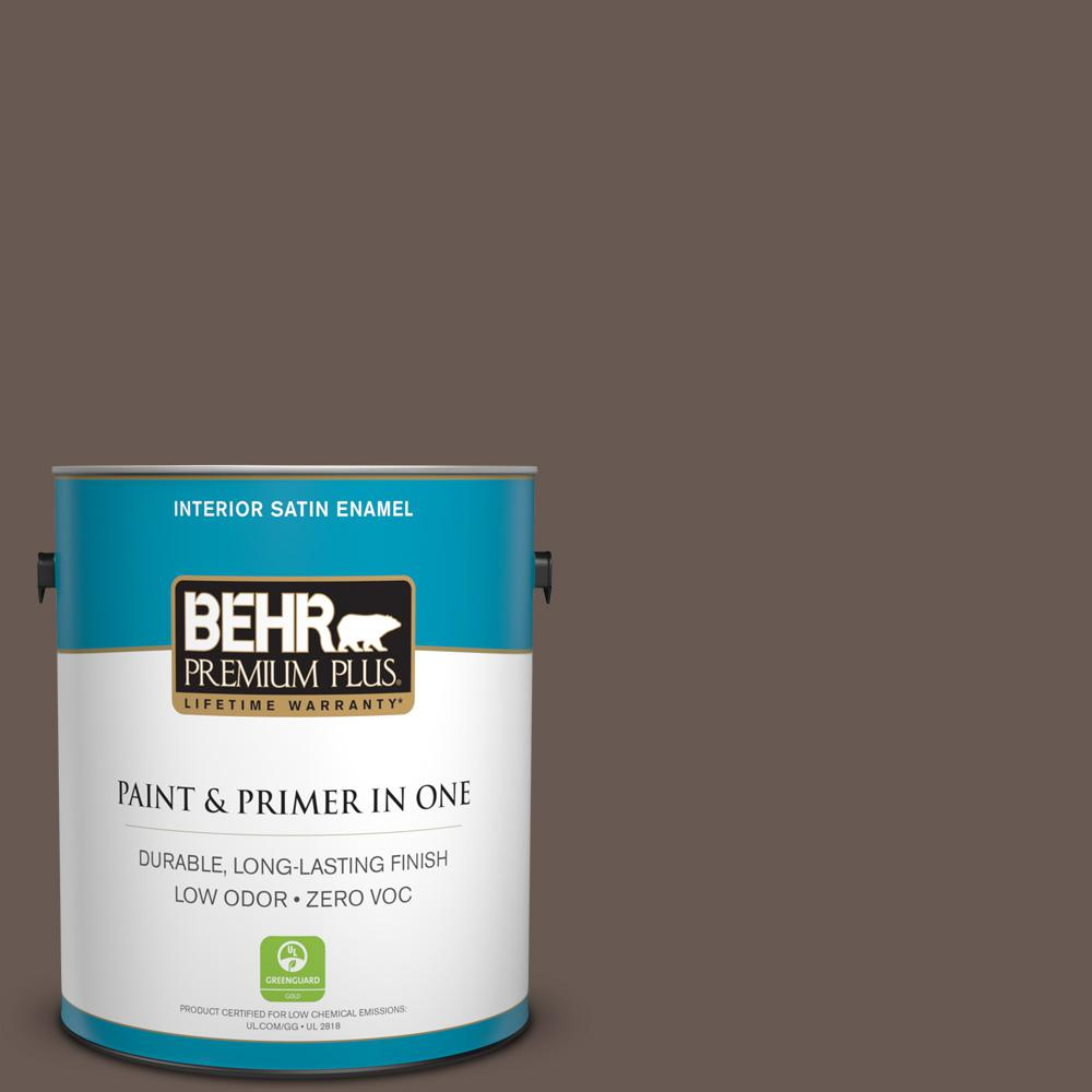 1 gal. #MQ2-44 Museum Satin Enamel Zero VOC Interior Paint and
