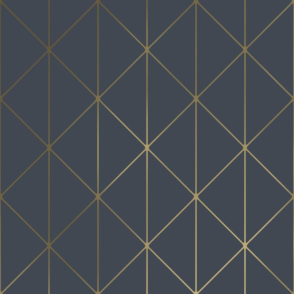 Diamonds Navy Geometric Paper Strippable Wallpaper (Covers 57.8 sq. ft.)