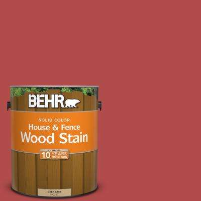 1 gal. #BIC-48 Fortune Red Solid Color House and Fence Exterior Wood Stain