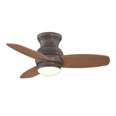 Moresco 32 in. Indoor Oil Rubbed Bronze Ceiling Fan with Light Kit and Wall Control
