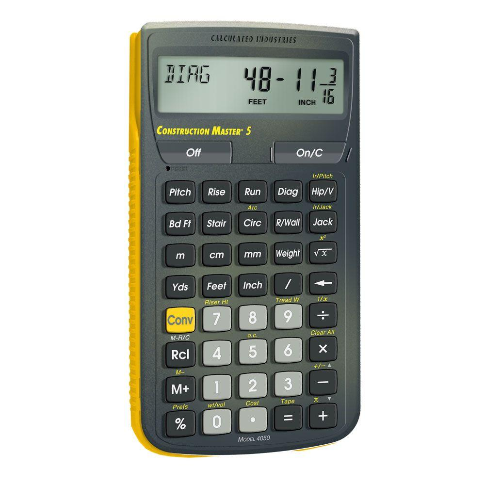 calculated industries construction master 5 calculator 4050 the