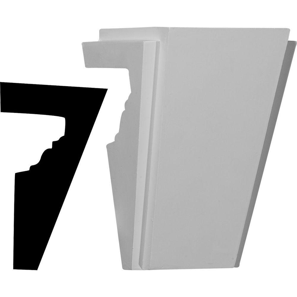Ekena Millwork 5-3/4 in. x 4-5/8 in. x 8 in. Stockport Keystone