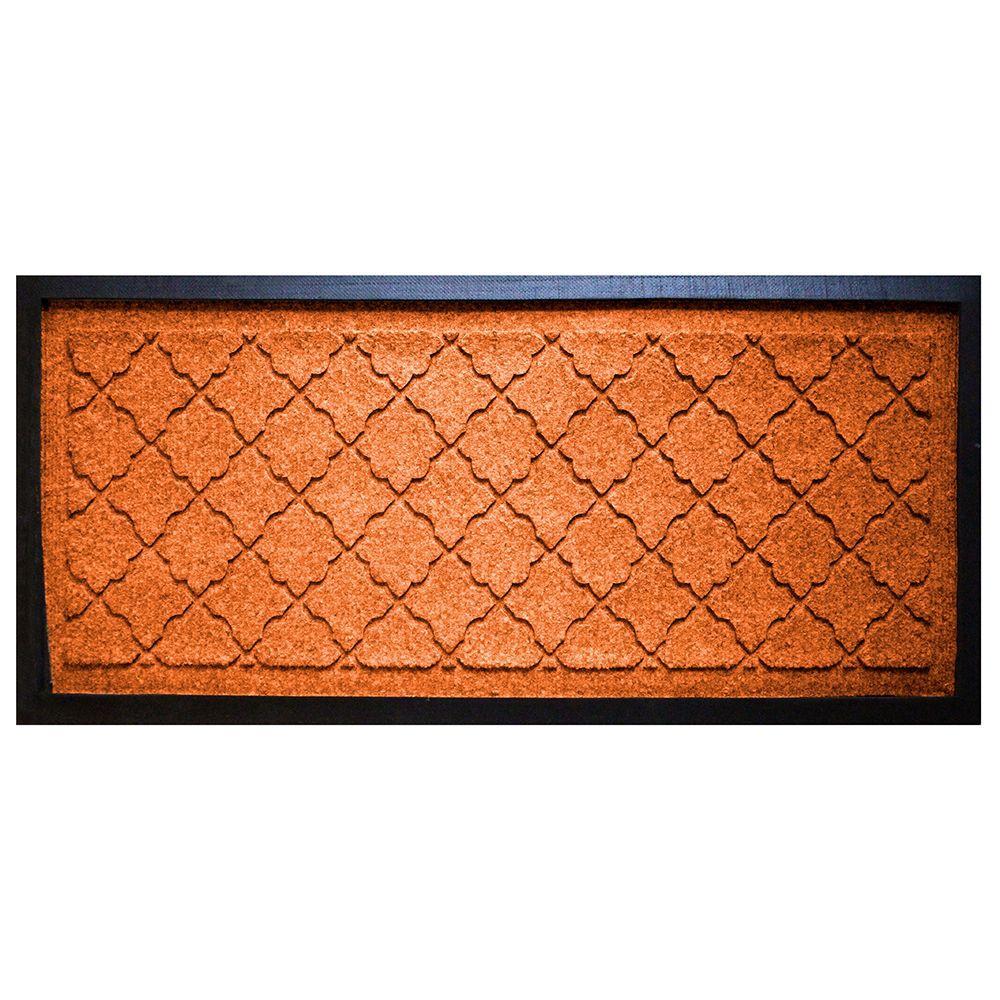 aqua shield orange 15 in x 36 in cordova boot tray 20626671536 the home depot. Black Bedroom Furniture Sets. Home Design Ideas