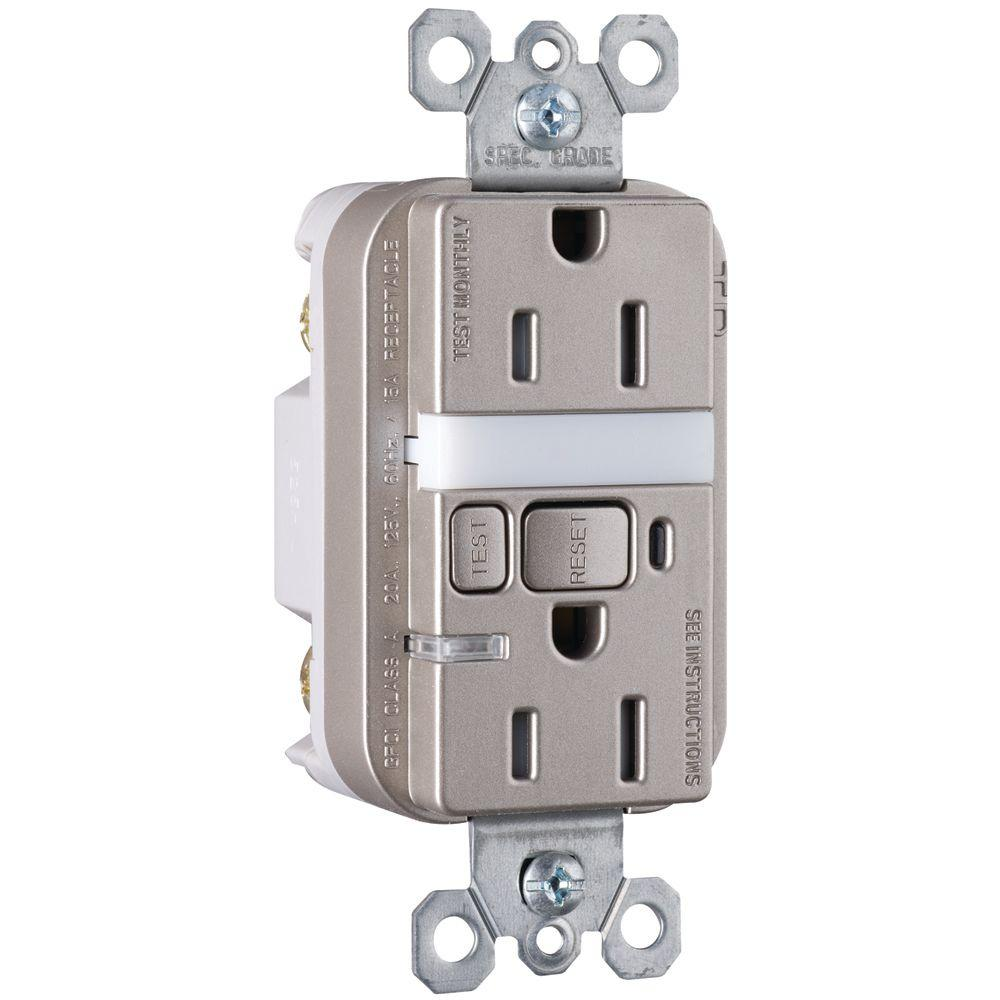 Legrand Pass & Seymour 15-Amp Tamper-Resistant GFCI Duplex Receptacle and Nightlight