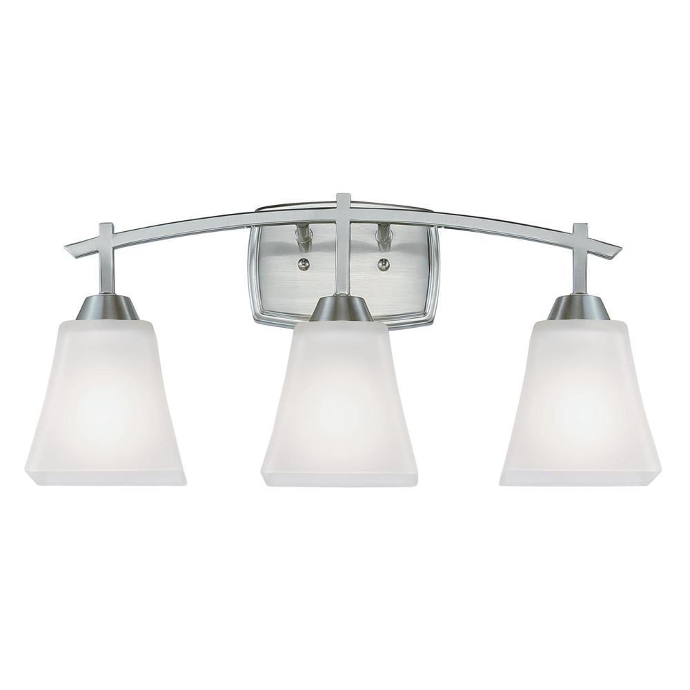Midori 3-Light Brushed Nickel Wall Mount Bath Light