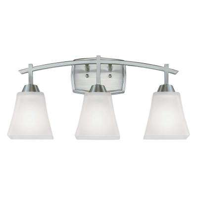 Midori 3-Light Brushed Nickel Wall Mount Bath Light