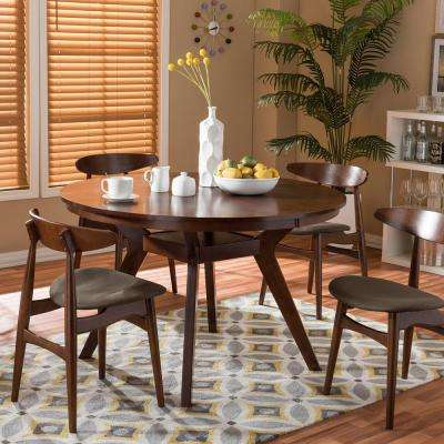 Round Wood Mid Century Modern Kitchen Dining Tables