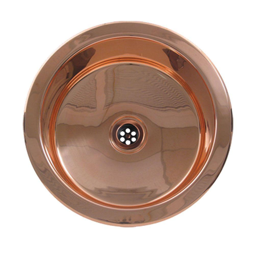 Copperhaus Undermount Copper 14 in. Single Bowl Prep Sink in Polished